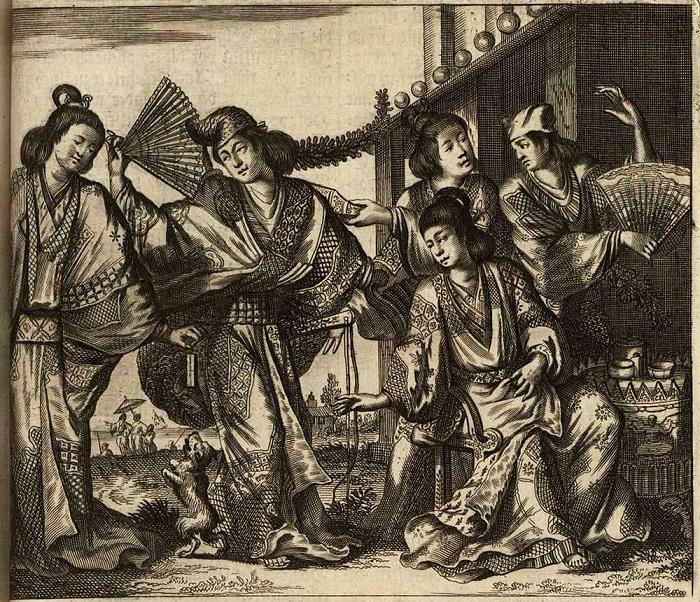 Японки глазами голландского художника, который сам никогда не был в Японии.